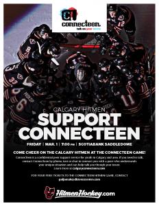 Calgary Hitmen Support Connecteen @ Scotiabank Saddledome