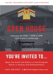 OPEN HOUSE at ARCHES: Indigenous Recovery Coach Program
