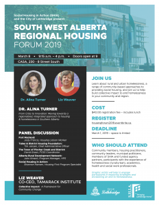 Southwest Alberta Regional Housing Forum 2019 in Lethbridge @ CASA