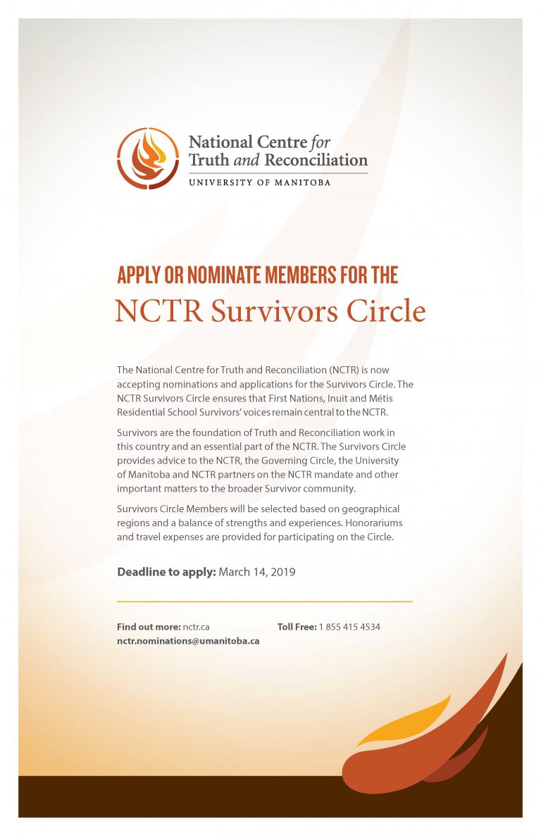 APPLY OR NOMINATE MEMBERS FOR THE NCTR Survivors Circle