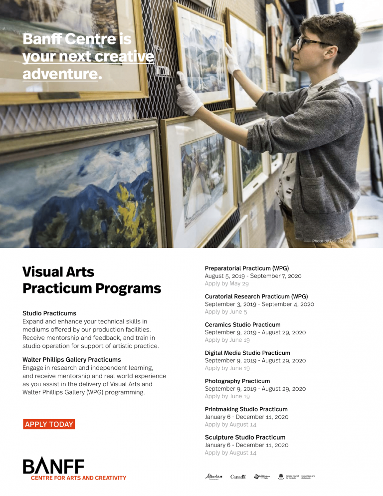 Banff Centre's Visual Arts  Practicum programs